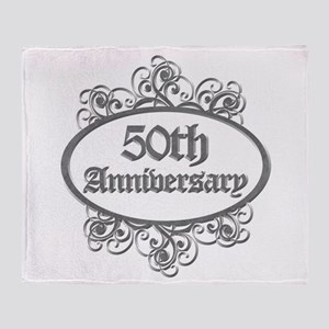 50th Wedding Aniversary (Engraved) Throw Blanket