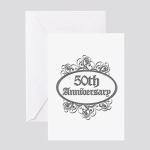 50th Wedding Aniversary (Engraved) Greeting Card