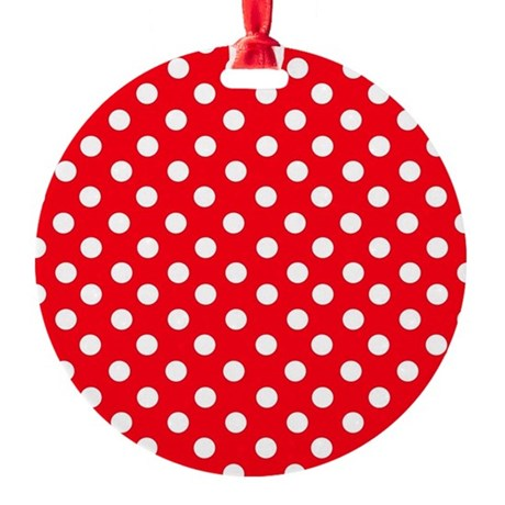 Red and white polka dot pattern ornament by admin cp49789583 for Red and white polka dot pattern