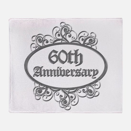 60th Wedding Aniversary (Engraved) Throw Blanket