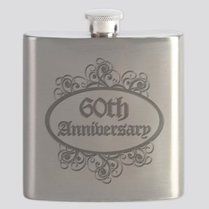60th Wedding Aniversary (Engraved) Flask
