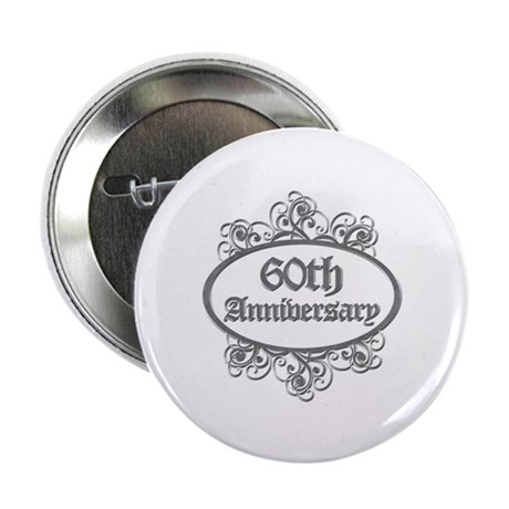 """60th Wedding Aniversary (Engraved) 2.25"""" Button"""