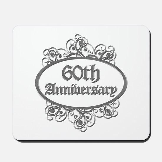 60th Wedding Aniversary (Engraved) Mousepad