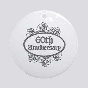 60th Wedding Aniversary (Engraved) Ornament (Round