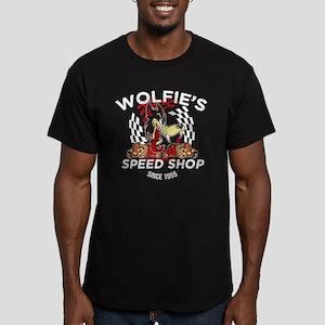Wolfie's Speed Shop Men's Fitted T-Shirt (dark)