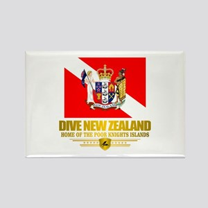 Dive New Zealand Rectangle Magnet