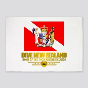 Dive New Zealand 5'x7'Area Rug