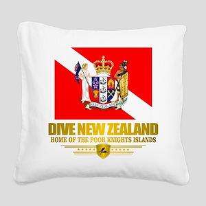 Dive New Zealand Square Canvas Pillow
