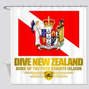 Dive New Zealand Shower Curtain