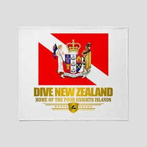 Dive New Zealand Throw Blanket