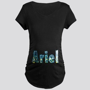 Ariel Under Sea Maternity Dark T-Shirt