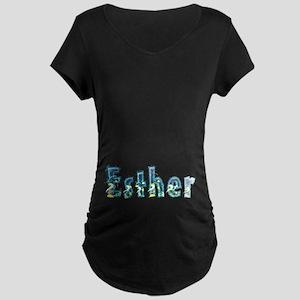 Esther Under Sea Maternity Dark T-Shirt