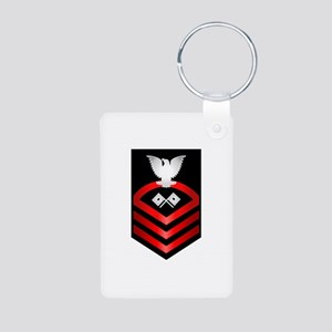 Navy Chief Signalman Aluminum Photo Keychain