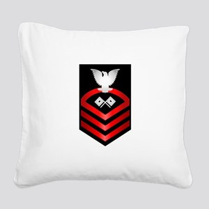 Navy Chief Signalman Square Canvas Pillow
