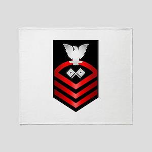 Navy Chief Signalman Throw Blanket