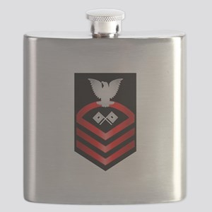 Navy Chief Signalman Flask