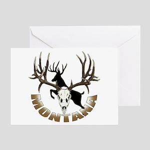 Montana deer skull Greeting Card