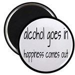 Alcohol Goes In Happiness Comes Out Magnet