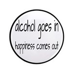 Alcohol Goes In Happiness Comes Out 3.5