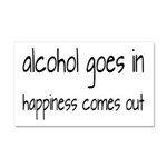 Alcohol Goes In Happiness Comes Out Car Magnet 20