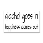 Alcohol Goes In Happiness Comes Out Rectangle Car