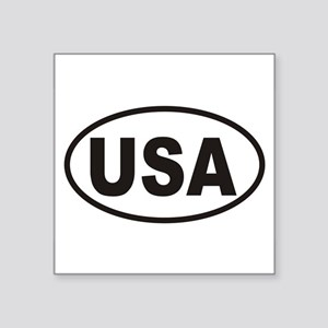 USA Euro Oval Car Sticker! Sticker