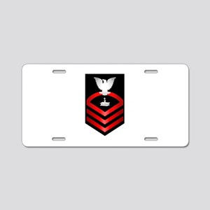 Navy Chief Steelworker Aluminum License Plate