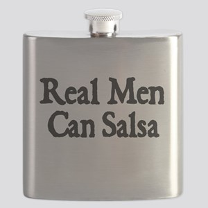 REAL MEN CAN SALSA Flask