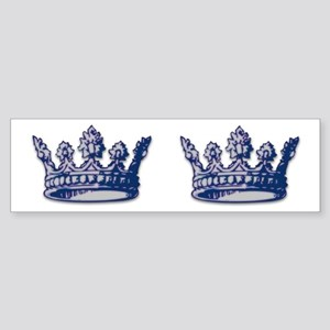 Medieval Blue Crown Bumper Sticker