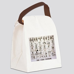 The cash system - 1877 Canvas Lunch Bag