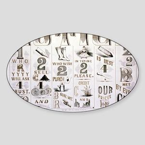 The cash system - 1877 Sticker (Oval)
