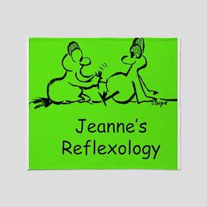 Jeannes Reflexology Throw Blanket