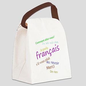 I speak French Canvas Lunch Bag