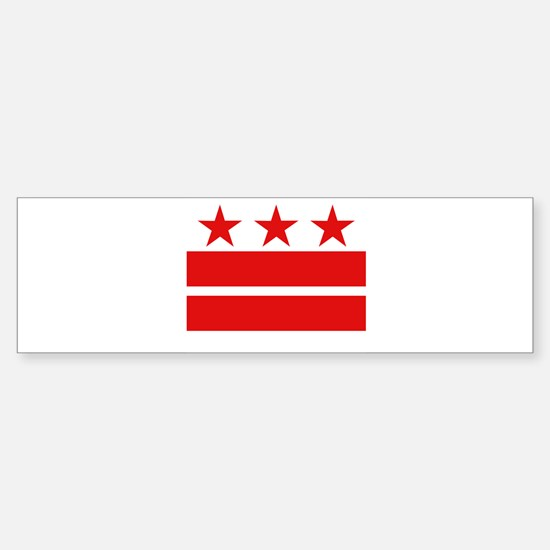 3 Stars 2 Bars Sticker (Bumper)