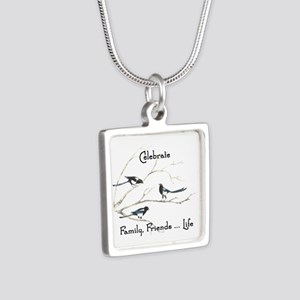 Celebrate Family Friends Life Quote Magpie Birds N