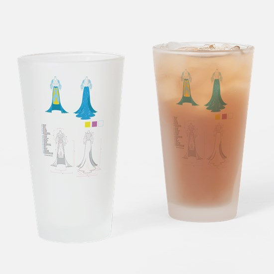 Fashion Gown Tech Pack Drinking Glass