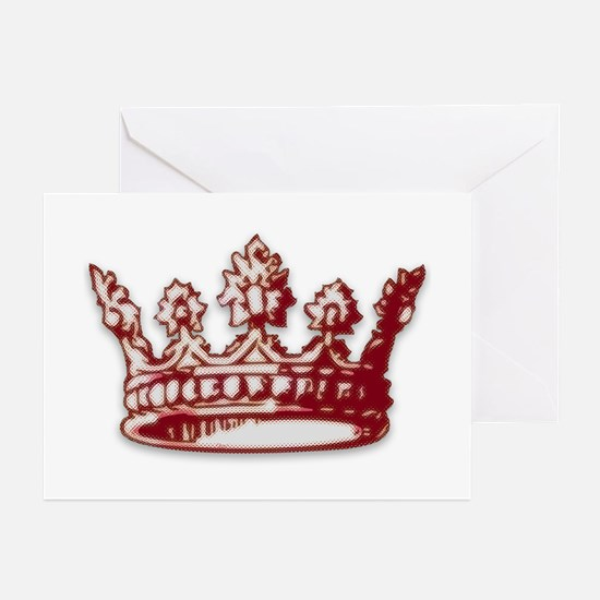 Medieval Red Crown Greeting Cards (Pk of 10)