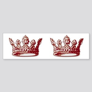 Medieval Red Crown Bumper Sticker