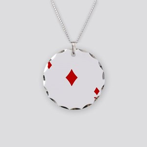 Ace of Diamonds Necklace Circle Charm
