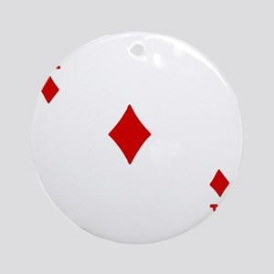 Ace of Diamonds Round Ornament
