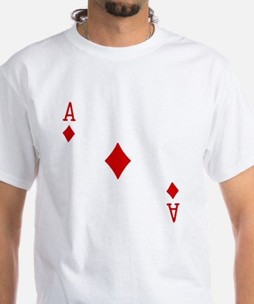 Ace of Diamonds White T-Shirt