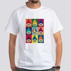 Troll Block 3x3 Rainbow White T-Shirt