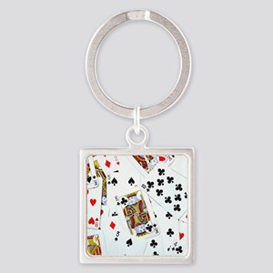 Spread out game cards Square Keychain