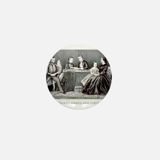 General Grant and family - 1867 Mini Button
