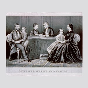 General Grant and family - 1867 Throw Blanket