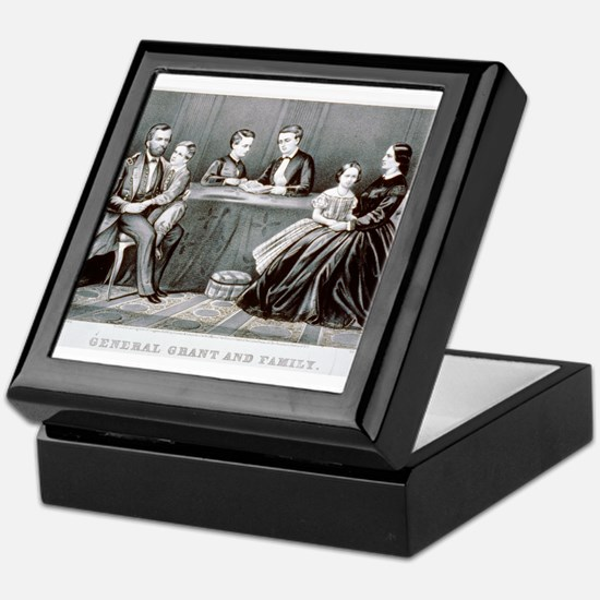 General Grant and family - 1867 Keepsake Box