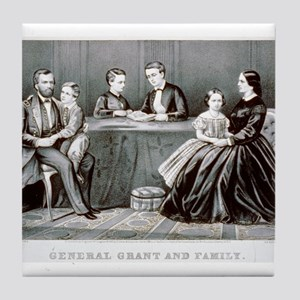 General Grant and family - 1867 Tile Coaster