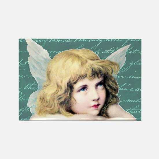 Pretty vintage angel Rectangle Magnet