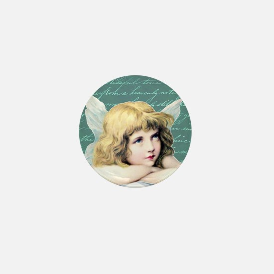 Pretty vintage angel Mini Button