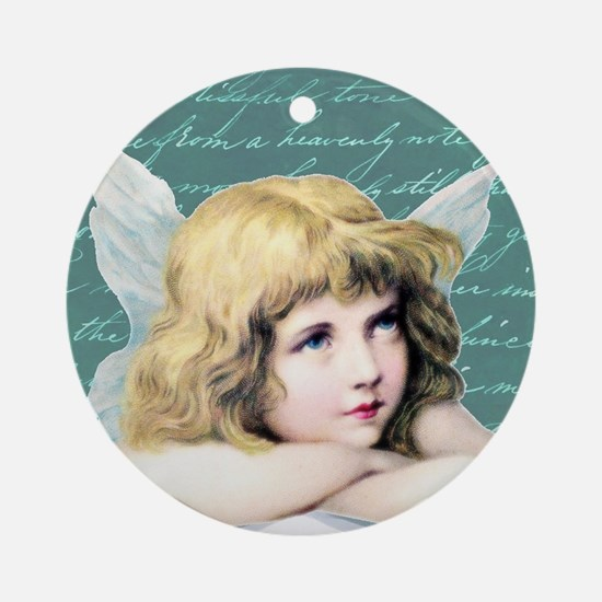 Pretty vintage angel Round Ornament